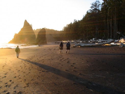 Beach going and hiking are some of the most popular recreational activities along the Washington Coast.
